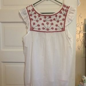 Forever 21 White Cotten Tunic Top