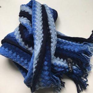 CHELSEY by Joseph Zig Zag 100% wool scarf men's