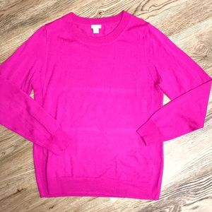 J Crew Pink Sweater Size Large