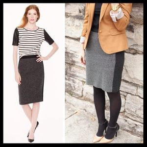 j. crew // houndstooth check wool pencil skirt