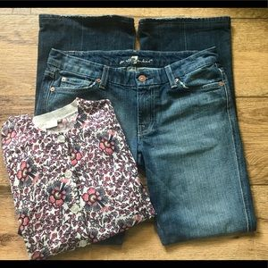 7FAM Crystal A Pocket Bootcut Jeans