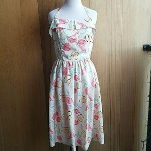 Vintage halter top midi dress