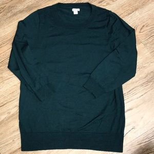 J Crew Tippi Dark Green Sweater Size Large