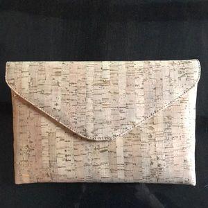 J. Crew cork and gold hangbag