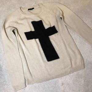 Forever 21 sweater with Cross in middle