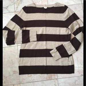 Jcrew brown Striped sweater