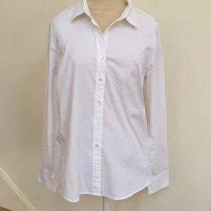 J. Crew Haberdashery White Oxford Shirt M
