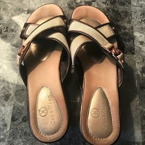 Cole Haan Nike Air Gold Copper Sandals