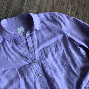 Purple button-down shirt