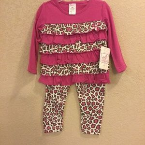 Other - Infant/Toddler Girls 2pc Outfits Size 12 months nw