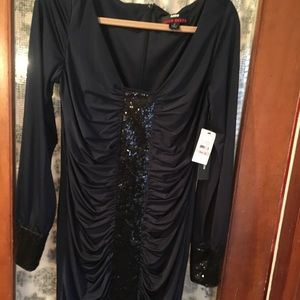 NWT-beautiful Miss Sixty jersey and sequined dress