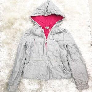 ANTHRO Elevenses Gray Nylon Coat