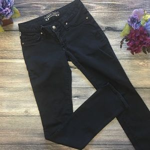 Robin's Jeans with black wings straight sz 26
