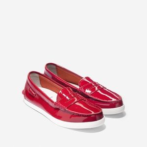 Cole Haan Pinch Patent Leather Red Loafers