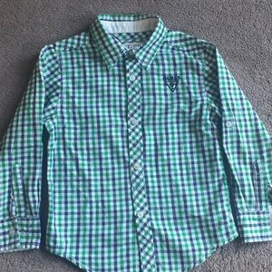 Guess Boy Button Down Shirt plaid M(5/6)