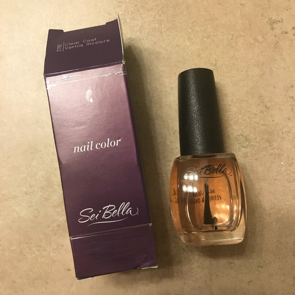 Sei Bella Other | Clear Coat Nail Polish | Poshmark