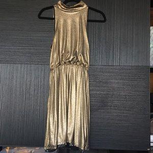 Alice and Olivia - Gold Sparkle Dress Size XS