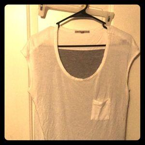 White and gray shirt