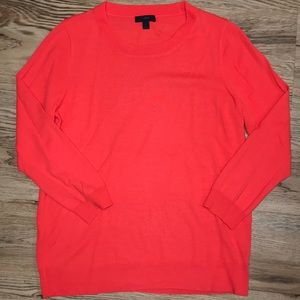 J Crew Orange Tippi Sweater Size Large