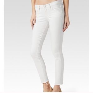 White Paige Verdugo Ankle Crop Jeans size 27