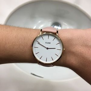 Cluse Pastel Pink Watch