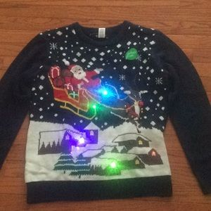 🆕 LiGHT UP Christmas santa ugly sweater- size 1X