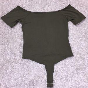 Asos Army Green Thong Body Suit