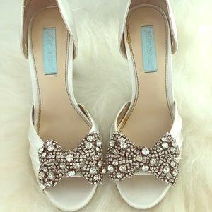 "Betsey  Johnson ""something blue"" bridal heel"