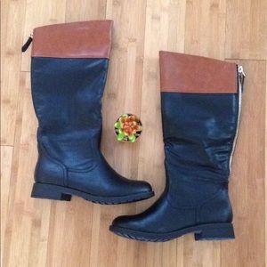 Black/Carmel Riding Boots