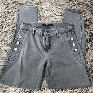 J Brand Silver Gray Zion Button Pocket Jeans 29