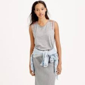 J. Crew Mixed Stone Muscle Tank Top