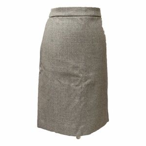 NWT J. Crew Light Gray Wool Pencil Skirt