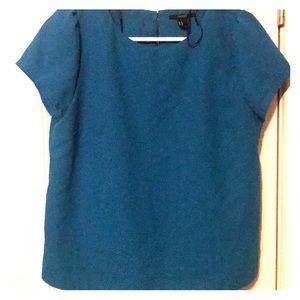 Blue structured shirt