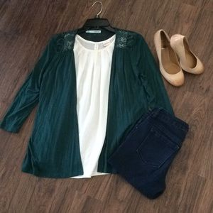 Maurices emerald green shrug