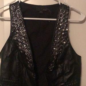 Black rocker vest