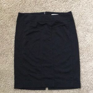 Cabi Black ponte pencil skirt zip and slit in back