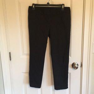 LOFT Cropped Black Work Pants