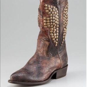 Frye cowgirl studded boots