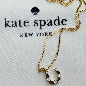 NWT Kate Spade Good Luck Horseshoe Necklace