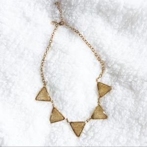 ✨TRENDY✨ Gold Triangle Necklace