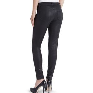 Paige Black Ultra Skinny Verdugo Coated Jeans