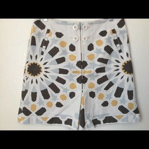 Anthropologie Elevenses abstract sun print skirt 6