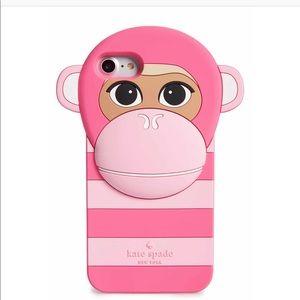 IPHONE 7 Kate Spade Monkey phone case - NWOB