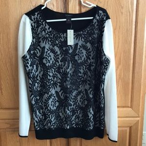 NEW Ann Taylor lace sweater