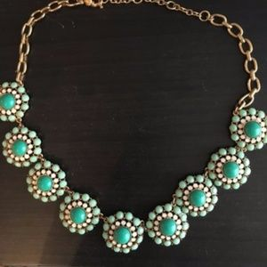 J. Crew Green Statement Necklace