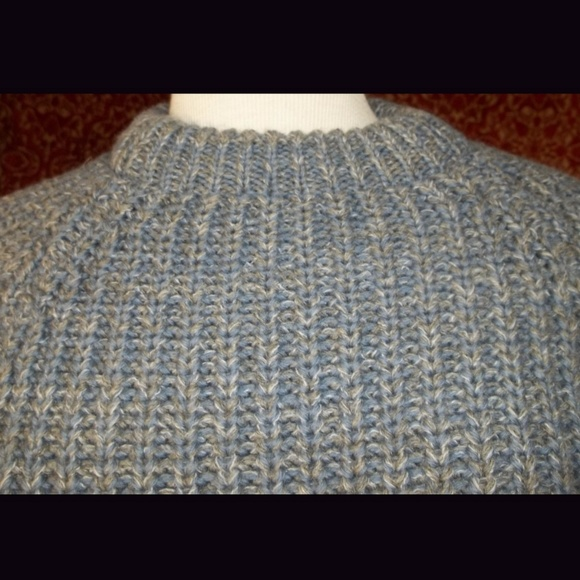Vintage Sweaters - Gray tweed heavy cold weather sweater L