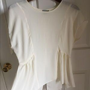ASOS Women's White Blouse Peplum Size 6