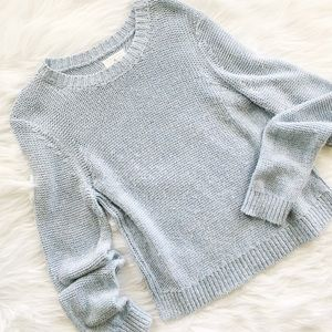 Lou & Grey Metallic Knit Sweater