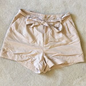 H&M shorts with tie waist