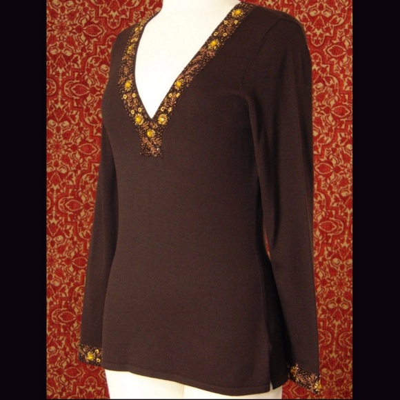 INC International Concepts Sweaters - INC INTERNATIONAL CONCEPTS brown sweater M